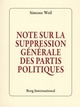 NOTE SUR LA SUPPRESSION GENERALE DES PARTIS